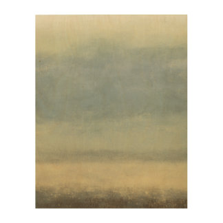Abstract Landscape with Overcast Sky Wood Wall Art