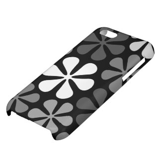 Abstract Large Flowers Monochrome iPhone 5C Cases