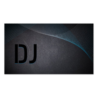 Abstract Laser Light Coal Black DJ Business Card