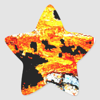 "Abstract ""lava"" star stickers"