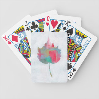 Abstract leaf 2 bicycle playing cards