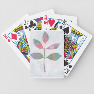 Abstract leaf bicycle playing cards