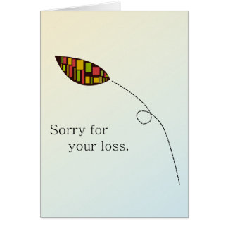 Abstract Leaf Condolence Card