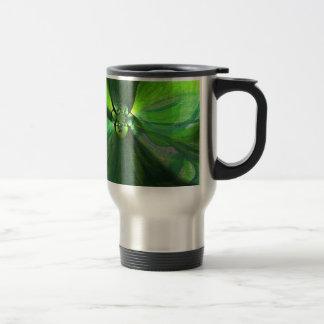 Abstract leaf fox pattern mug