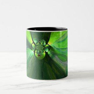 Abstract Leaf Fox swirl Mug