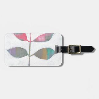 Abstract leaf luggage tag