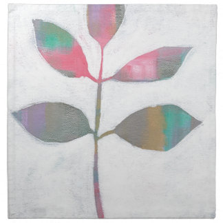 Abstract leaf napkin