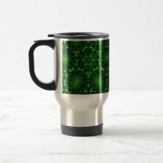 Abstract leaf pattern mug