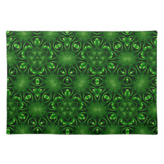 Abstract leaf pattern placemat