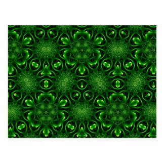 Abstract leaf pattern postcard