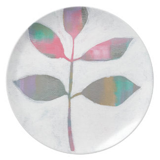 Abstract leaf plate