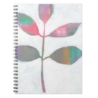 Abstract leaf spiral notebook