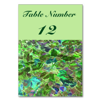 Abstract Leaves, Green and Blue Pattern Card