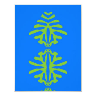"Abstract Leaves 4.25"" X 5.5"" Invitation Card"