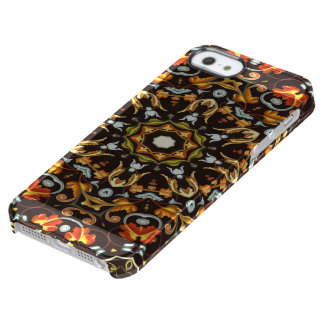 abstract leaves pattern orange brown autumn fall clear iPhone SE/5/5s case