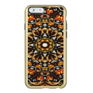 abstract leaves pattern orange brown autumn fall incipio feather® shine iPhone 6 case