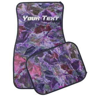 Abstract Leaves Purple Foliage Car Mat