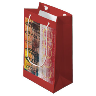 Abstract Leaves Red & Yellow 170256 Gift Bag
