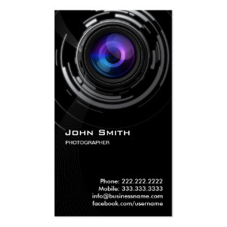 Abstract Lens Swirl Photographer Business Card