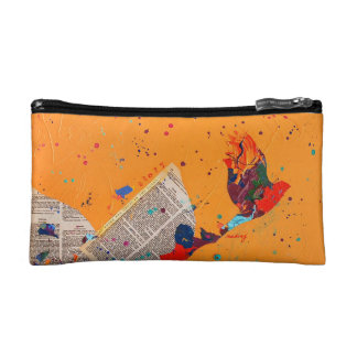 Abstract Letter Trail Bag Cosmetic Bags