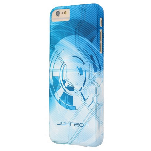 Abstract Light Blue High-Tech Stylish Look Barely There iPhone 6 Plus Case