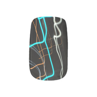 abstract light painting fingernail transfers