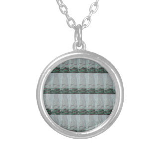 Abstract Light Shade Graphic design add TEXT PHOTO Round Pendant Necklace