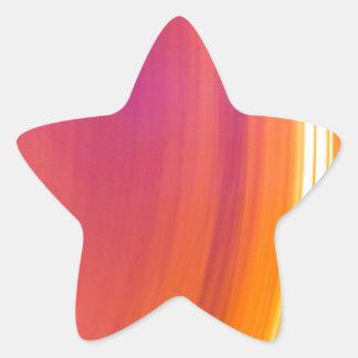 abstract light stripes star sticker