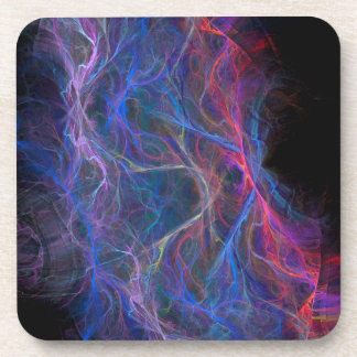 Abstract lightning background coaster
