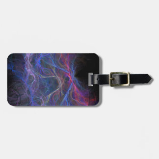 Abstract lightning background luggage tag
