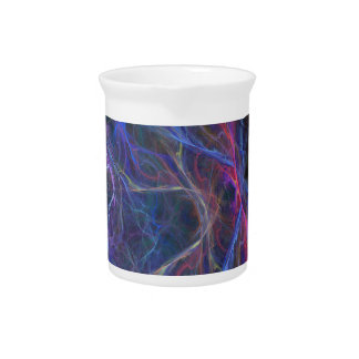 Abstract lightning background pitcher