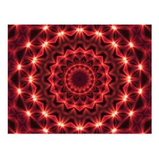 Abstract Lightning Mandala Postcard