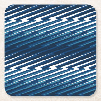 Abstract lightning square paper coaster