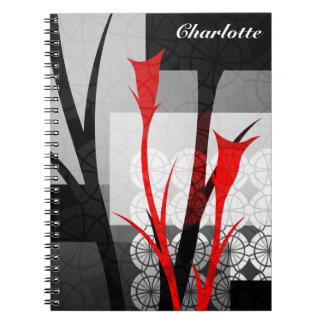 Abstract Lilies Personalized Notebook