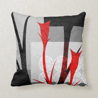 Abstract Lilies Throw Pillow