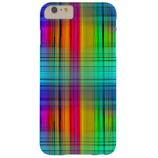 Abstract Line Art Plaid Rainbow Barely There iPhone 6 Plus Case