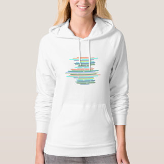 abstract line designs with pastel colors hoodie
