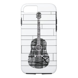 Abstract Line Guitar iPhone 7 Case