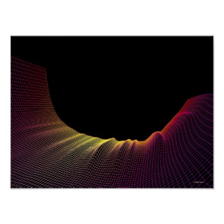 Abstract Line Pattern Poster