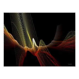Abstract Line Poster