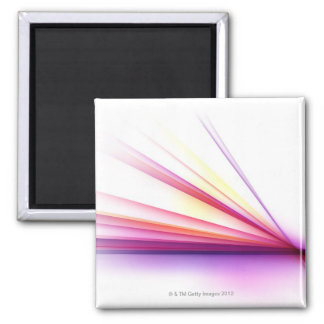 Abstract Lines 6 Square Magnet
