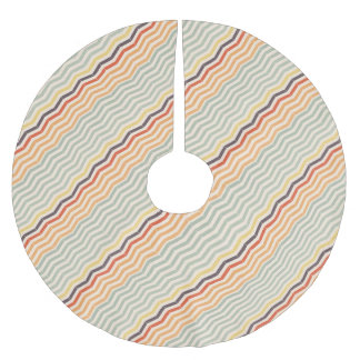 Abstract lines brushed polyester tree skirt