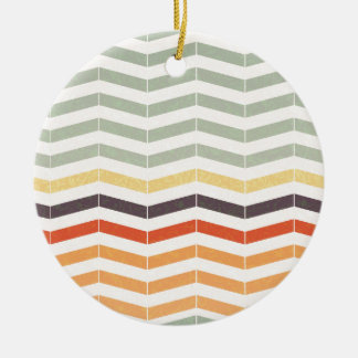 Abstract lines ceramic ornament