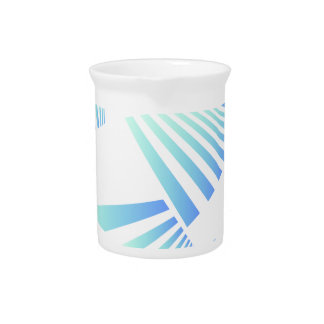 abstract lines design pitcher