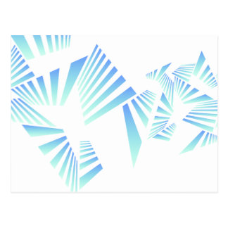 abstract lines design postcard
