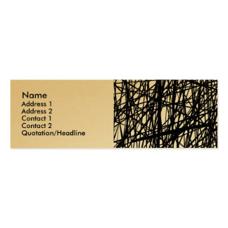 Abstract Lines - Gold Business Card