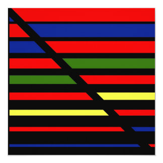 Abstract Lines of color, Abstract Lines 13 Cm X 13 Cm Square Invitation Card