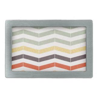 Abstract lines rectangular belt buckle