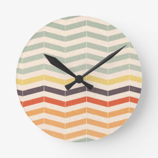 Abstract lines round clock
