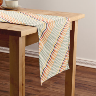 Abstract lines short table runner